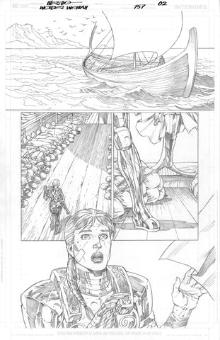 Jesus Merino Original Art Wonder Woman #757 Page 2
