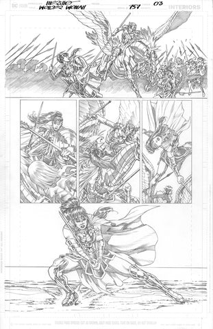 Jesus Merino Original Art Wonder Woman #757 Page 3