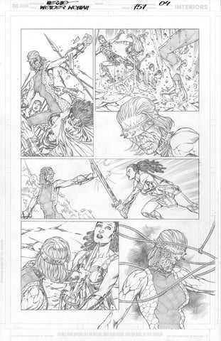 Jesus Merino Original Art Wonder Woman #757 Page 4