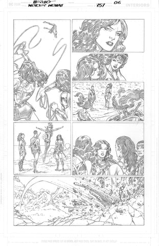 Jesus Merino Original Art Wonder Woman #757 Page 6