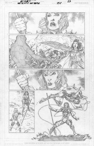 Jesus Merino Original Art Wonder Woman #757 Page 13