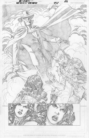 Jesus Merino Original Art Wonder Woman #757 Page 18