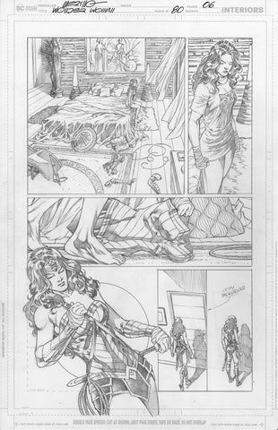Jesus Merino Original Art Wonder Woman #80 Page 6