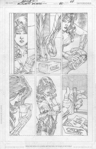 Jesus Merino Original Art Wonder Woman #80 Page 7