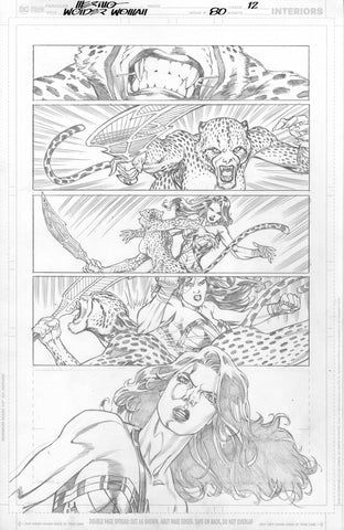 Jesus Merino Original Art Wonder Woman #80 Page 12