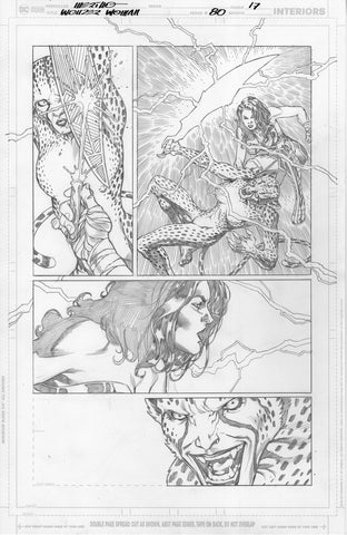 Jesus Merino Original Art Wonder Woman #80 Page 17