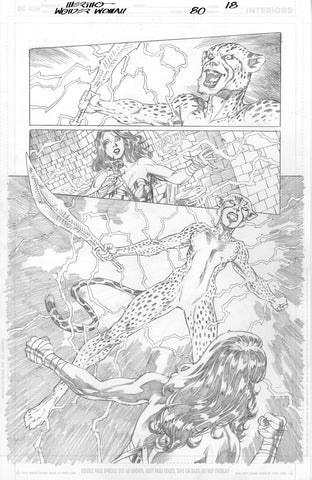Jesus Merino Original Art Wonder Woman #80 Page 18