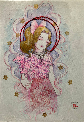 Zu Orzu Original Art Whimsical Aerith (Final Fantasy)