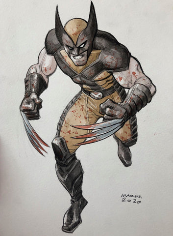 Enrico Marini Original Art Wolverine Illustration