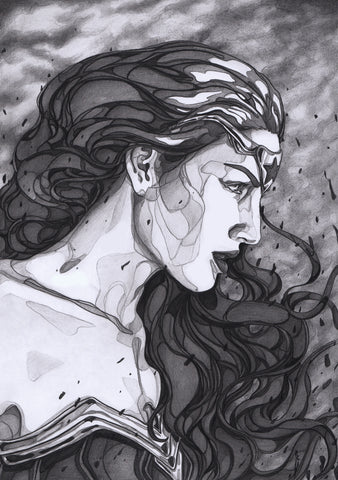 Ingrid Gala Original Art Wonder Woman Graphite Illustration