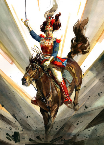 Clara Tessier Original Art Wonder Woman Cuirassier Illustration