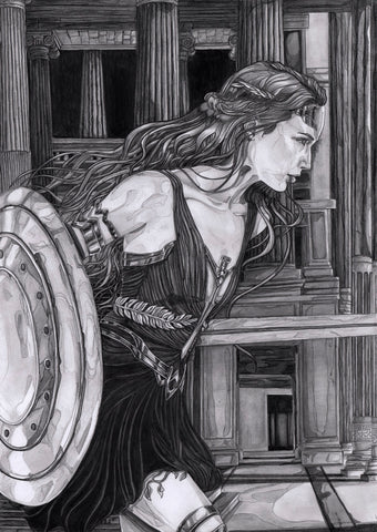 Ingrid Gala Original Art Wonder Woman A3 Illustration