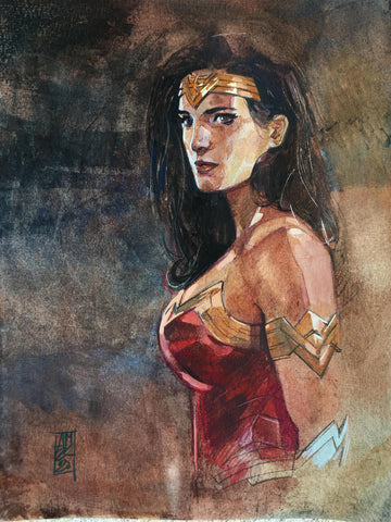 Alex Maleev Original Art Wonder Woman Illustration