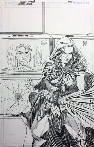 Guillem March Original Art Wonder Woman #86 Cover
