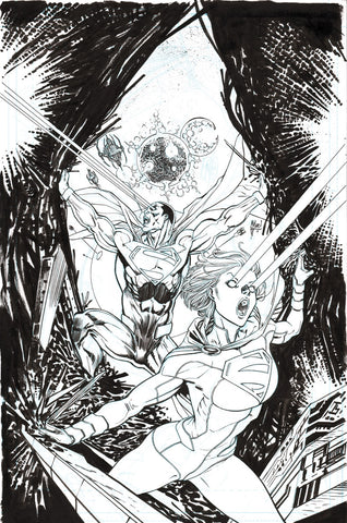 Guillem March Original Art Earth 2 World's End #9 Supergirl Cover