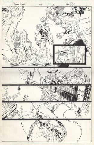 Paco Diaz Original Art X-Treme X-Men #4 P3