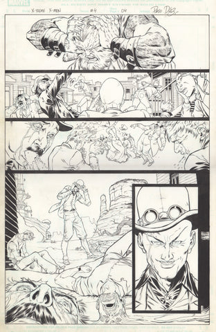 Paco Diaz Original Art X-Treme X-Men #4 P4