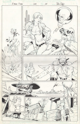 Paco Diaz Original Art X-Treme X-Men #4 P5