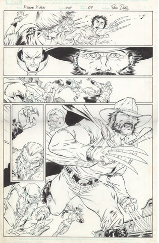 Paco Diaz Original Art X-Treme X-Men #4 P7