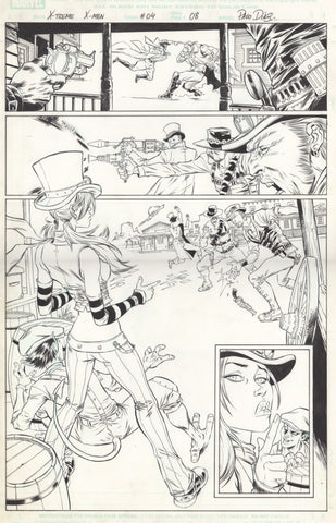 Paco Diaz Original Art X-Treme X-Men #4 P8