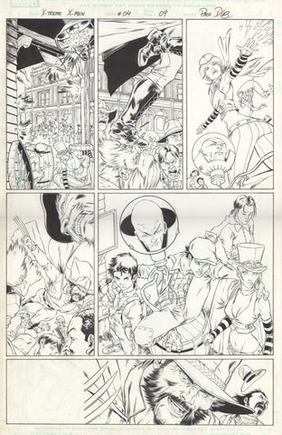 Paco Diaz Original Art X-Treme X-Men #4 P9