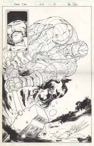 Paco Diaz Original Art X-Treme X-Men #4 P10
