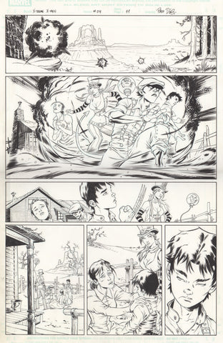 Paco Diaz Original Art X-Treme X-Men #4 P11