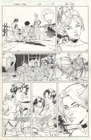 Paco Diaz Original Art X-Treme X-Men #4 P19