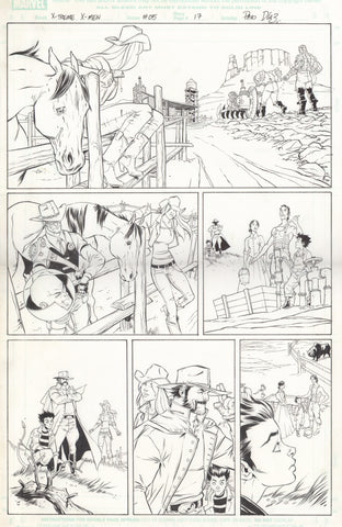 Paco Diaz Original Art X-Treme X-Men #5 P17