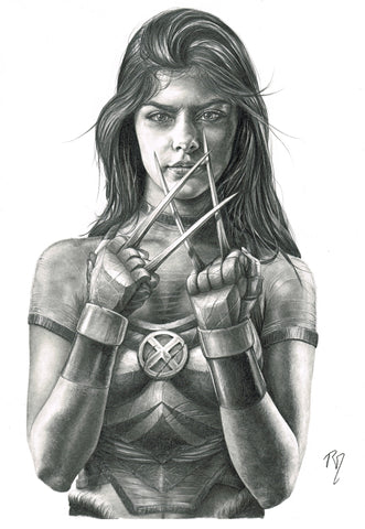 Pepe Valencia Original Art X-23 Portraits Collection Illustration