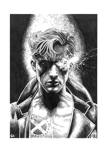 Riccardo Latina Original Art Nate Grey Illustration