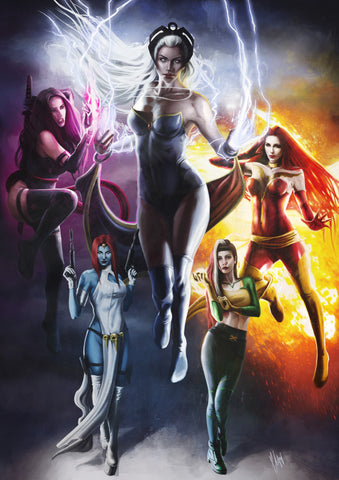 X-Men Girls Limited Print Collection by Ingrid Gala