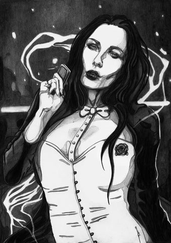 Ingrid Gala Original Art Zatanna Illustration