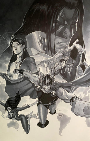 Paul Renaud Original Art Avengers World #11 Cover