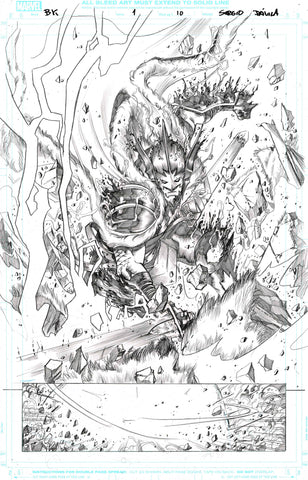 Sergio Davila Original Art Black Knight #1 Page 10