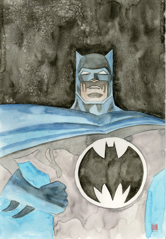 David Mack Original Art Dark Knight Returns DC Official Print Illustration