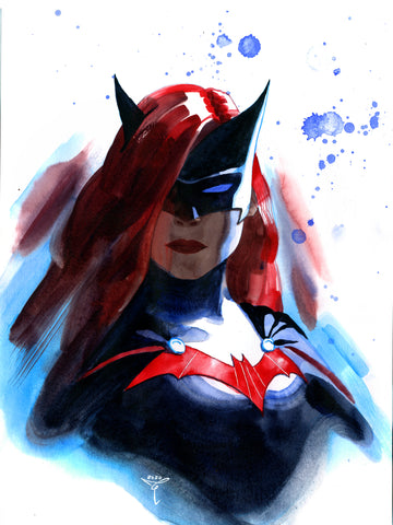 Clara Tessier Original Art Batwoman 'Batman Heroes & Villains Collection' Illustration