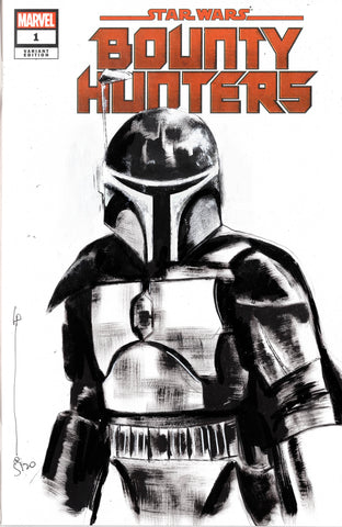 Helena Masellis Original Art Boba Fett Blank Cover Illustration