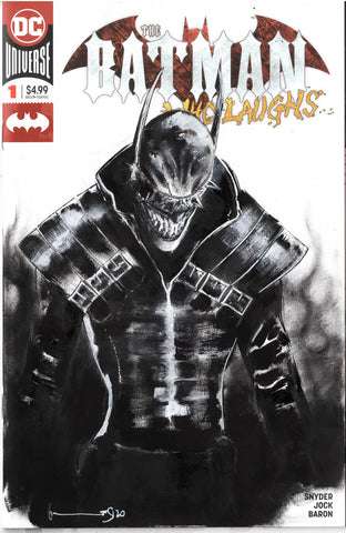 Helena Masellis Original Art Batman Who Laughs Blank Cover Illustration