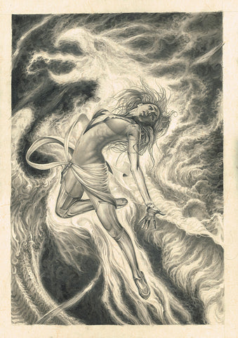 Pepe Valencia Original Art Phoenix Graphite Illustration