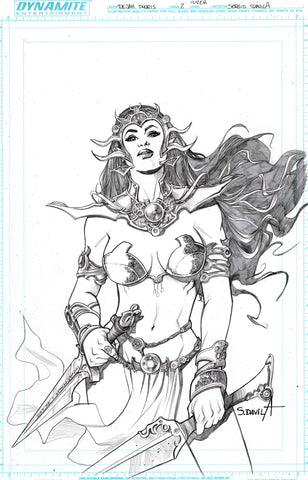 Sergio Davila Original Art Dejah Thoris #2 Cover