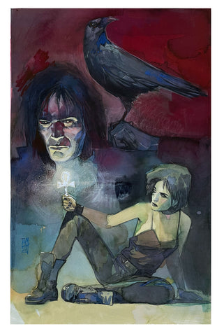 Alex Maleev Original Art Sandman & Death Illustration