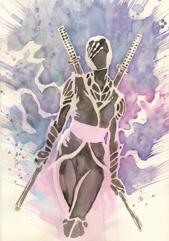David Mack Original Art Echo Marvel's Voices Ronin Transformation Promo Art 5