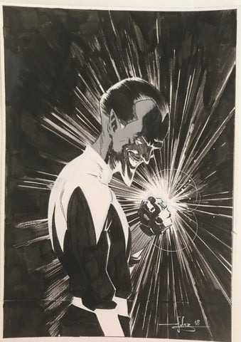 Javier Fernandez Original Art Sinestro Illustration