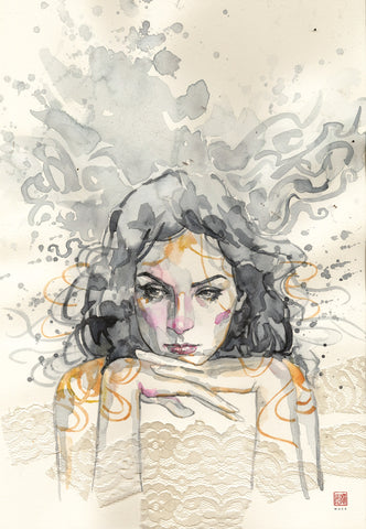 David Mack Original Art Jessica Jones #5 Cover