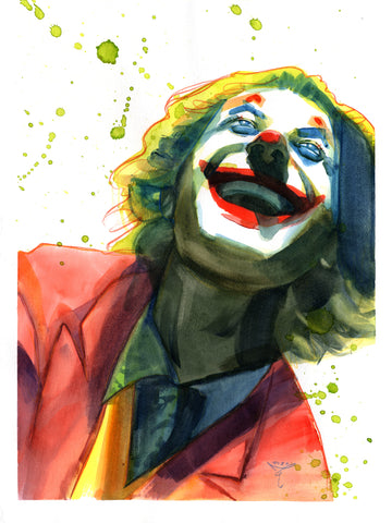 Clara Tessier Original Art Joker 'Batman Heroes & Villains Collection' Illustration