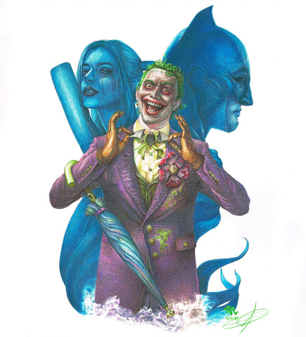 Pepe Valencia Original Art Joker Smile Collection