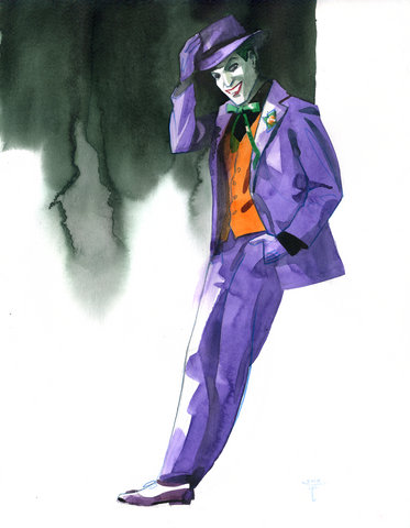 Clara Tessier Original Art Joker Painted Sketch