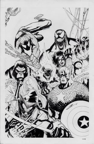 Gerardo Sandoval Original Art Marvel Comics Presents #8 Cover