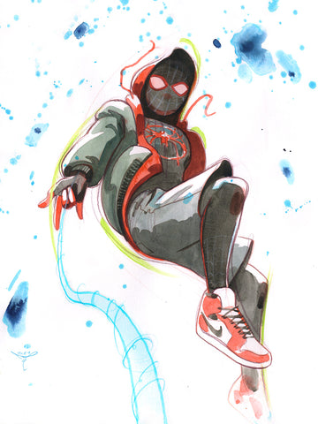 Clara Tessier Original Art Miles Morales Illustration